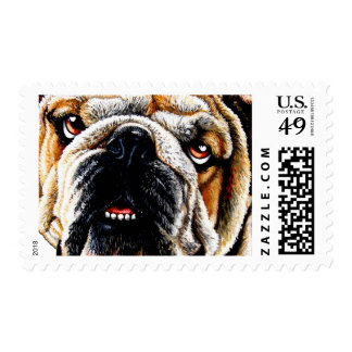 Cara pintada del dogo sellos postales