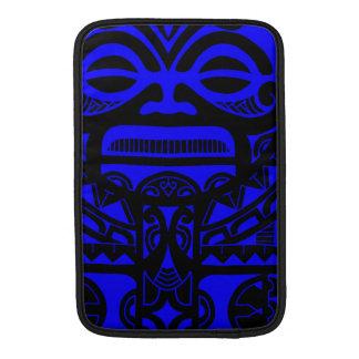 Cara polinesia del diseño del tatuaje de dios de fundas para macbook air