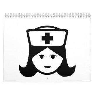 Cara principal de la enfermera calendario