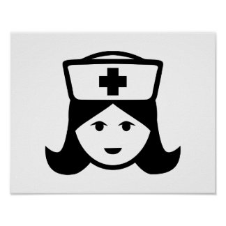 Cara principal de la enfermera póster