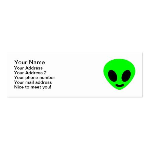 Cara principal extranjera tarjetas de visita mini