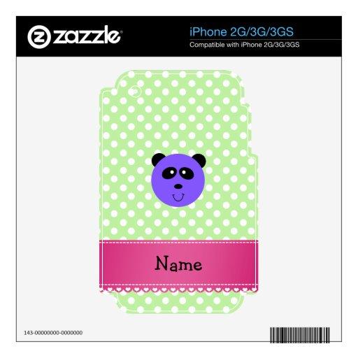 Cara púrpura conocida personalizada de la panda calcomanías para el iPhone 2G
