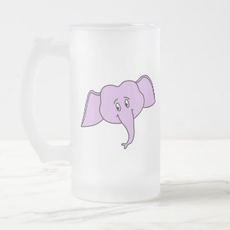 Cara púrpura del elefante. Historieta Taza De Café