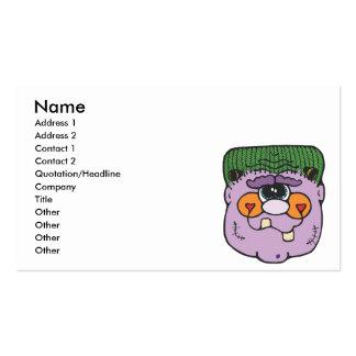cara púrpura del frankestein tarjetas de visita