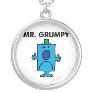 Cara que frunce el ceño de Sr. Grumpy el | Colgante Redondo