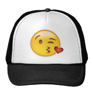 Cara que lanza un beso Emoji Gorro De Camionero