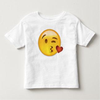 Cara que lanza un beso Emoji Playera