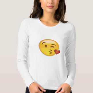 Cara que lanza un beso Emoji Playeras