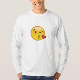 Cara que lanza un beso Emoji Poleras