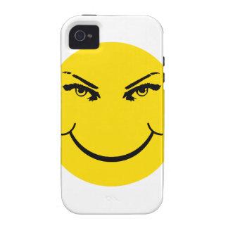 Cara real del smiley de los ojos vibe iPhone 4 carcasas