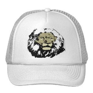 cara realista adaptable del león gorras