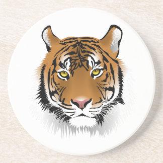 Cara realista del tigre de Bengala Posavasos Cerveza