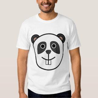Cara redonda linda de la panda del dibujo animado camisas