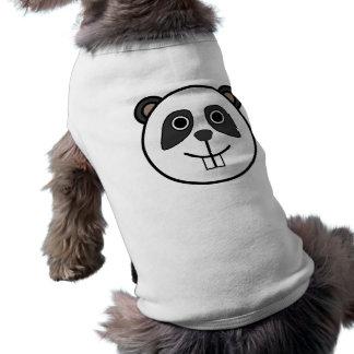 Cara redonda linda de la panda del dibujo animado playera sin mangas para perro
