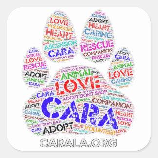 CARA Rescue Square Sticker
