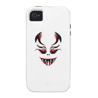 Cara roja asustadiza vibe iPhone 4 carcasa