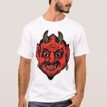 Cara roja de cuernos del diablo de Satan Playera