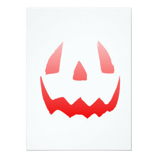 """Cara roja del feliz Halloween del resplandor Invitación 5.5"""" X 7.5"""""""