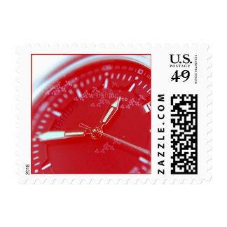 Cara roja del reloj del suizo sellos