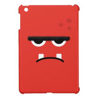 Cara roja divertida del monstruo iPad mini cárcasas
