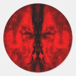 Cara roja etiqueta redonda