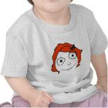Cara roja Meme de la rabia del pelo de Derpina Camisetas