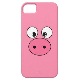 Cara rosada del cerdo funda para iPhone SE/5/5s