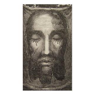 Cara santa de la tarjeta de la dedicación de Jesús Tarjetas De Visita