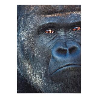 """Cara severa del gorila invitación 4.5"""" x 6.25"""""""