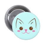 ¡Cara simple del gato tan linda! Pin Redondo De 2 Pulgadas