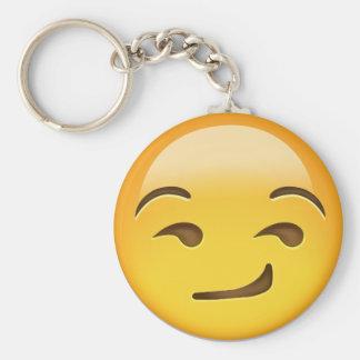 Cara Smirking Emoji Llaveros Personalizados