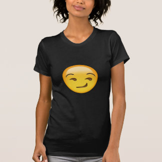Cara Smirking Emoji Camiseta