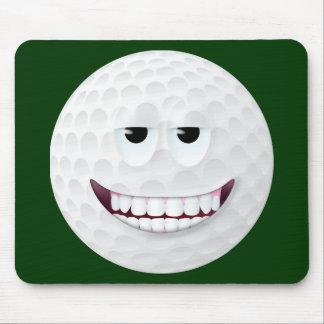 Cara sonriente 2 de la pelota de golf alfombrilla de raton