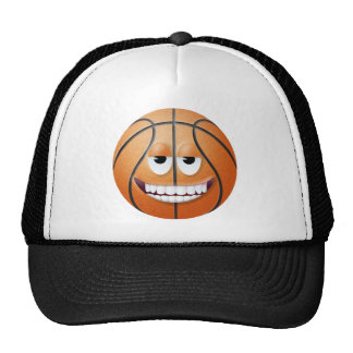 Cara sonriente 2 del baloncesto gorras de camionero
