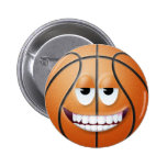 Cara sonriente 2 del baloncesto pins