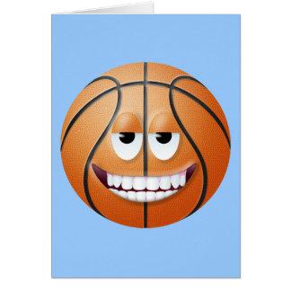 Cara sonriente 2 del baloncesto tarjetas