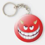 Cara sonriente 2 del diablo llaveros