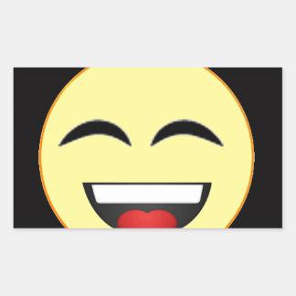 Cara sonriente 3 rectangular pegatinas