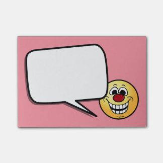 Cara sonriente alegre Grumpey Post-it® Notas