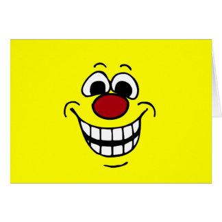 Cara sonriente alegre Grumpey Tarjeta Pequeña