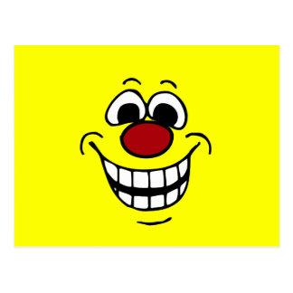 Cara sonriente alegre Grumpey Tarjeta Postal
