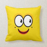 Cara sonriente - almohada amarilla