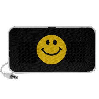 Cara sonriente amarilla mp3 altavoz