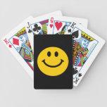 Cara sonriente amarilla baraja de cartas