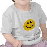 Cara sonriente amarilla camisetas