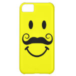 Cara sonriente amarilla con el caso del iPhone 5 d