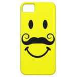Cara sonriente amarilla con el caso del iPhone 5 d iPhone 5 Protector