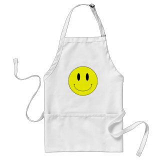 Cara sonriente amarilla del KRW Delantal