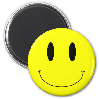 Cara sonriente amarilla del KRW Imán De Frigorifico