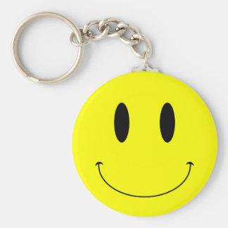 Cara sonriente amarilla del KRW Llavero Personalizado